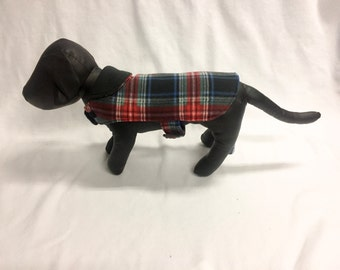Red/Black Plaid 3 Dog Coat 1012
