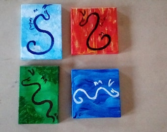 Elemental Dragon Paintings