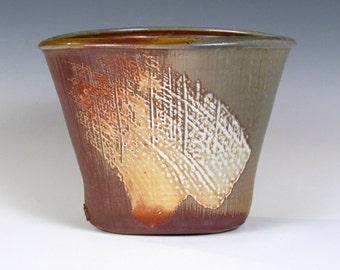 """Woodfired, Stoneware vase 8""""x6""""x5.5"""""""