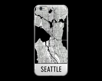 Seattle iPhone Case, Seattle Phone Case, iPhone Seattle , Seattle WA Phone Case, Seattle iPhone 5 Case, Seattle iPhone 6, Art, Gift