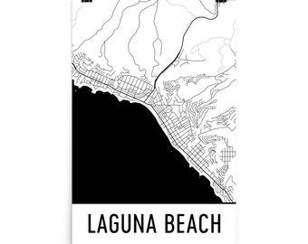Laguna Beach Map, Laguna Beach Art, Laguna Beach Print, Laguna Beach CA Poster, Laguna Beach Wall Art, Laguna Beach Gift, Laguna Decor, Map