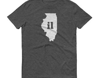 Illinois Tshirt, Illinois, Illinois Shirt, IL Shirt, Illinois Tee, State Pride, Illinois Gifts, Illinois State, Map, Shirt, TShirt, Tee, IL