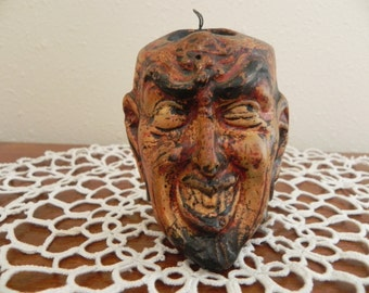 Vintage Chalkware Devil Matchstick Holder and He is Ugly!