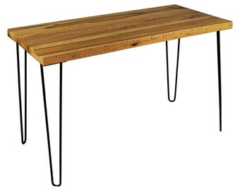 Reclaimed Barn Wood Modern Rustic Desk, Hairpin Legs, Industrial Modern Desk, Office Desk Midcentury