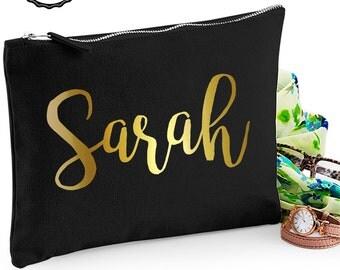 CUSTOM NAME Makeup bag/purse/zipper pouch