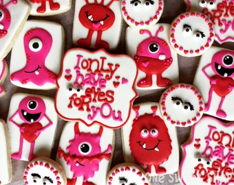 I Only Have Eyes For You Cookies - Large Set