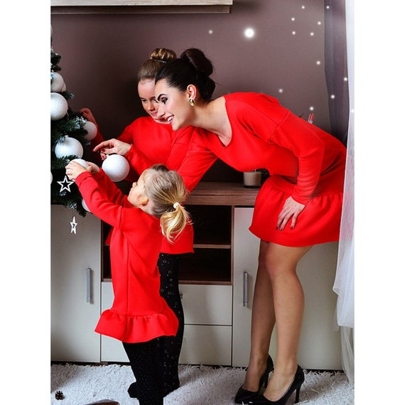 Birthday Outfit For Mom: Items Similar To Red Dress, Matching Outfits, Christmas