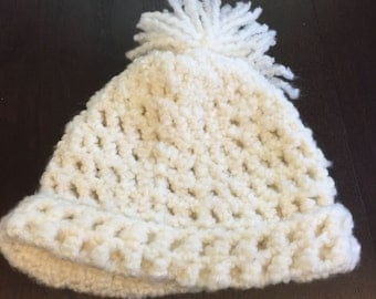 Handmade, Crochet, Pom Pom Hat