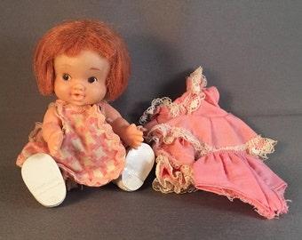 1967 Vintage UNEEDA  Wet & Drink Baby Pee Wee Doll
