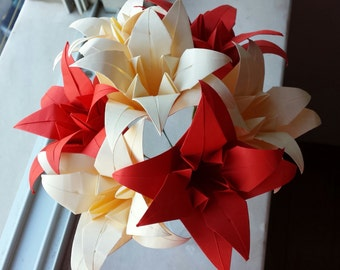 Origami Lily Centerpiece