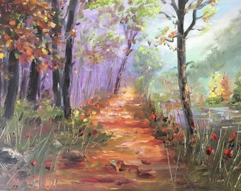 Beautiful Colorful Nature Oil Painting by Naci Caba