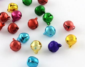 25 pc Mixed Color Bell Charms 9x8mm