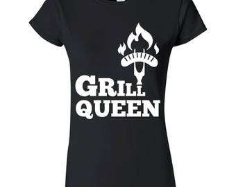 Grill Queen Barbeque BBQ Sausage Women's T-Shirt