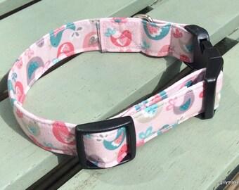 Tweety Pink Dog Collar
