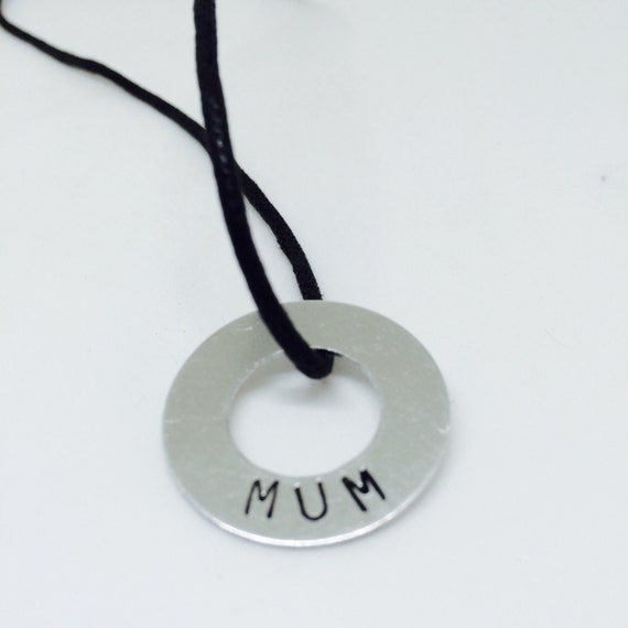 Mum gift, gift for her, gifts from kids, mum jewelry,  mother necklace, kids gift, mom gift, black necklace, word art, christmas, ready now