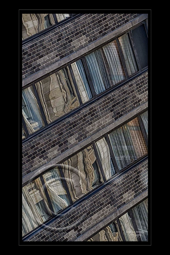 Manhattan Windowscape,Abstract Art,Abstract,Wall Picture,Home Decor,Home Decor Office,Gift, Photo, Vertical