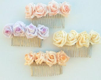 Handmade Floral Hair Comb, Bespoke Designed Accessories, Enchanted Collection