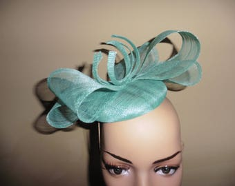 Aqua,Fascinator,Hat,suitable for Wedding Hat,Occasion Hat,Fascinator,Ascot Race Hat Fascinator