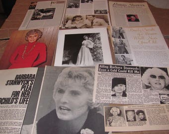 BARBARA STANWYCK CLIPPINGS  #0425