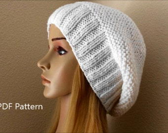 How To Knit A Slouchy Hat, PDF File