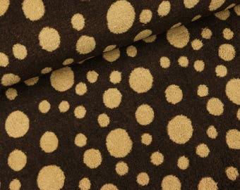 Wellnessfleece Brown with light brown dots (8,90 EUR / meter)