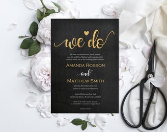 black gold invite  etsy, Wedding invitations