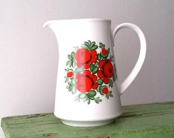 Retro porcelain pitcher / jug