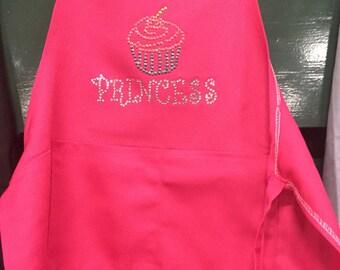 Hot Pink childs princesss apron