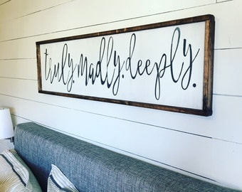 truly.madly.deeply. Above the bed sign [FREE SHIPPING!]