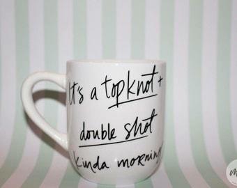 Top Knot and Double Shot Mug