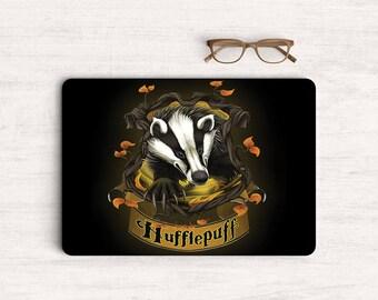 Houses Hufflepuff Sticker Skin Vinyl Decal for MacBook Laptop K0615