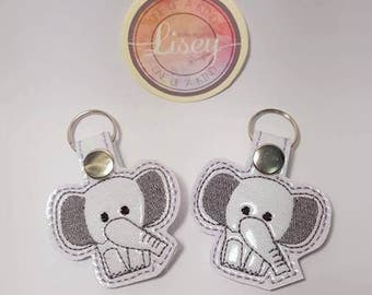 Digital file: 1 Elephant Key Fobs by Lisey Designs