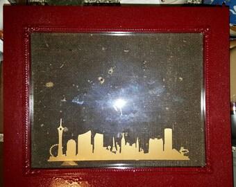 Las Vegas Strip Decal Picture Frame 3x5