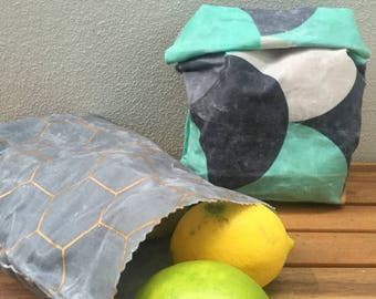 Happy Lunch Bags | beeswax reusable lunch bags