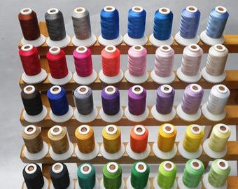 40 Brother Colors Polyester Computer Machine Embroidery Thread For Brother Janome etc 500m*40 / Kit