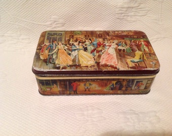 "Dulcet vintage tin - metal box old Dulcet ""Dickensian Memories"""