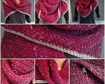 Wrap scarf in Burgundy