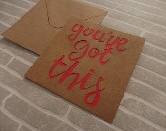 Handmade Good Luck Card