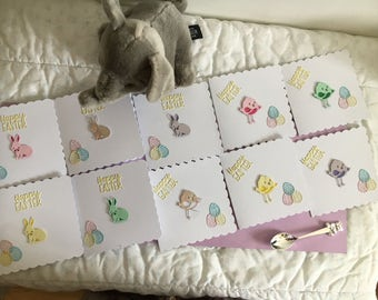 Pack of 10 Easter Chick, Baby Easter Chick, Cute Baby Bunny,   Easter Bunny Card, Happy Easter, Easter Greeting Card