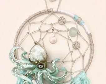 Octopus Dream Catcher teal