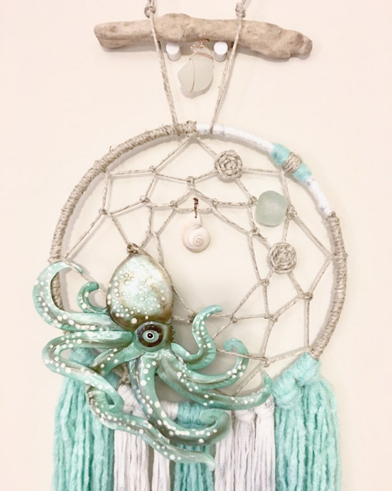 Octopus Dream Catcher teal