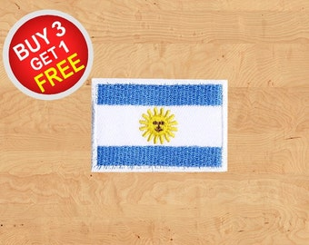 Argentina Flag Patches Flag Patches Patch Iron On Patch Embroidered Patches