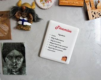 Tiramisu recipe-magnet