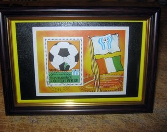 The Republic of Côte d 'Ivoire sport framed big stamp from 1979