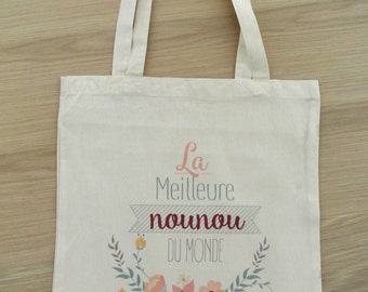 "Tote bag nanny ""The best nanny of the world"""