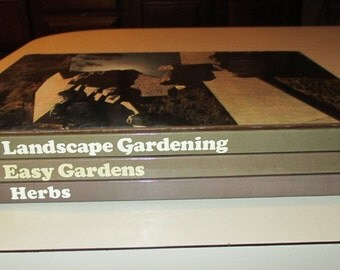 3 Time life gardening h/c books-gardening series 1971-1977-1978-herbs-landscape gardening-easy gardens