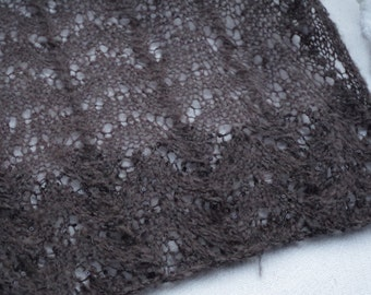 Mohair scarf with sequins grey