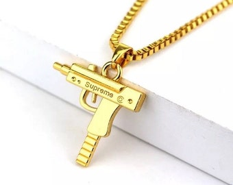 18k Gold Plated Supreme Uzi Chain