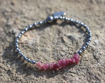 Pink Tourmaline Stretch Bracelet