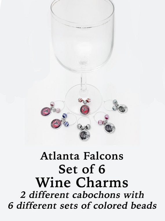 ATLANTA Wine or Bottle Charms, Napkin Rings, Set of 6  +FREE SHiPPiNG & Discounts*